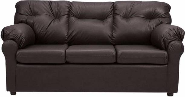 BHARATH ENTERPRISES Leatherette 3 Seater  Sofa