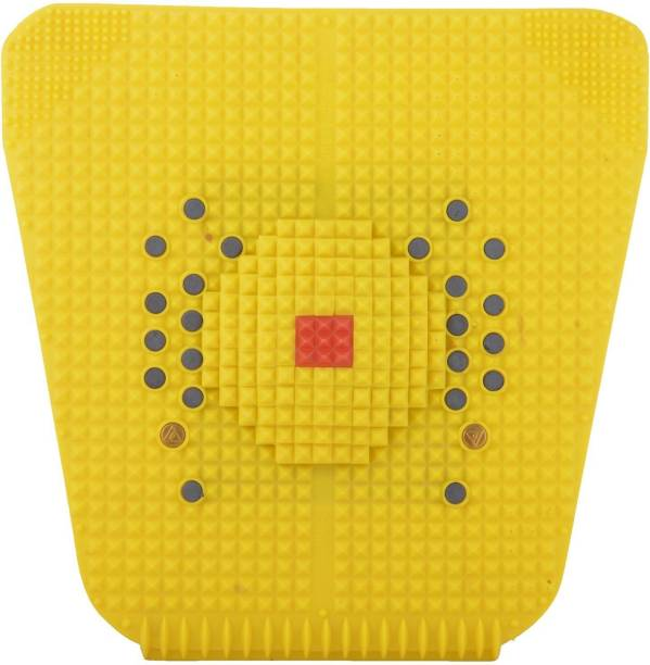 NP NAVEEN PLASTIC Acupressure Foot Mat With Magnets And Copper For Stress And Pain Relief Yellow 3 mm Accupressure Mat