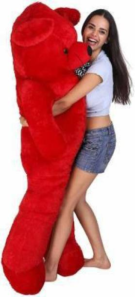 Balni Cute Bootsy Red 90 Cm 3 feet Huggable And Loveable For Someone Special Teddy Bear  - 90 cm