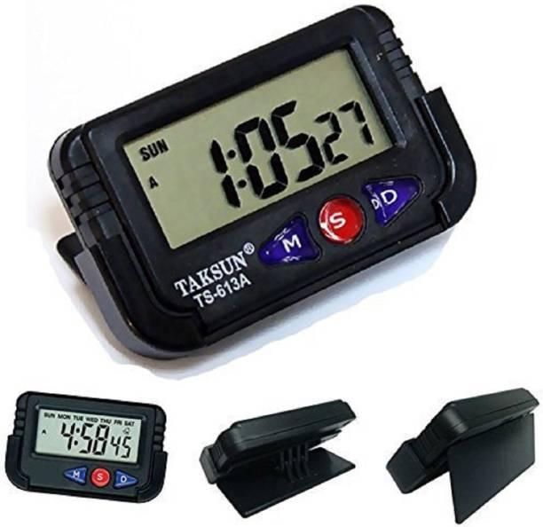 Talukdar Lifestyle Digital Black Clock