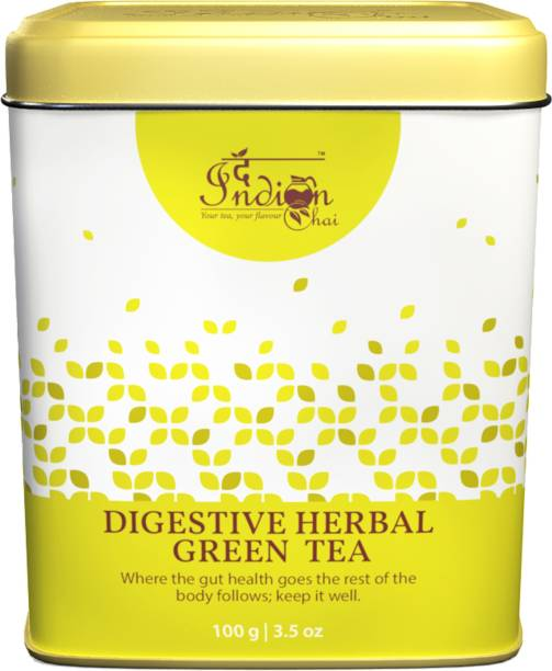 The Indian Chai Digestive Herbal Green Tea for Detox, Weight Loss & Digestion Herbal Tea Tin