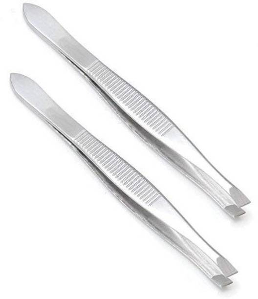 MYYNTI Stainless Steel Eyebrow Tweezer Eyebrow Shaper Comb For Men and Women
