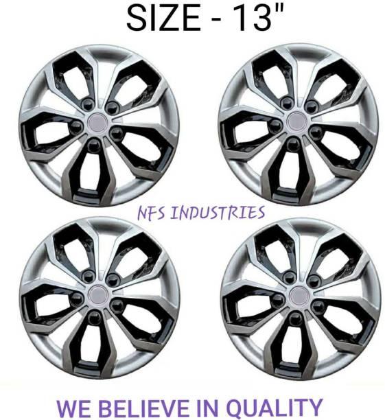 NFS INDUSTRIES SPORTY DIAMOND CUT UNIVERSAL WHEEL COVER Wheel Cover For Hyundai, Ford, Nissan, Maruti, Tata WagonR, Santro, Universal For Car, Ikon, Indica, Micra Active, Zen Estilo, Eeco, Esteem