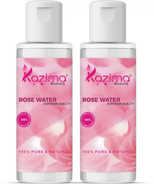 KAZIMA ROSE Water (Gulab Jal) For Skin (2 Pcs of 100ML) - Pure Natural & Undiluted