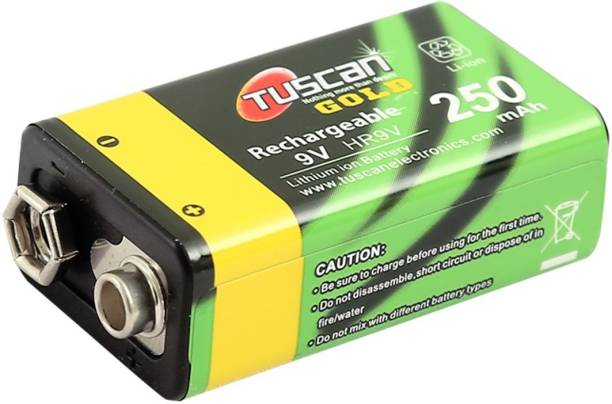TUSCan Gold (1pc) Rechargeable 9V Lithium Ion 250mAh  Camera Battery Charger