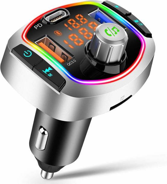 Protexz v5.0 Car Bluetooth Device with FM Transmitter, Car Charger, MP3 Player, Adapter Dongle, Transmitter