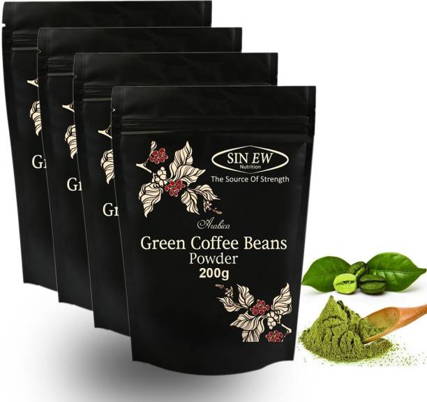 SINEW NUTRITION Green Coffee Beans Powder for Weight and Fat Loss (200x4) Instant Coffee