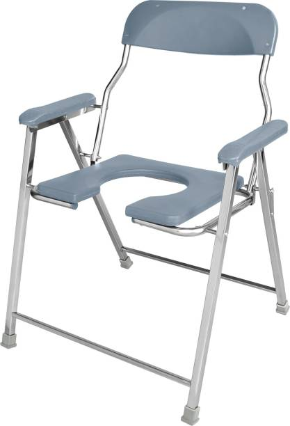 NEOSAFE Stainless Steel Jumbo Shower & Commode Chair Commode Chair