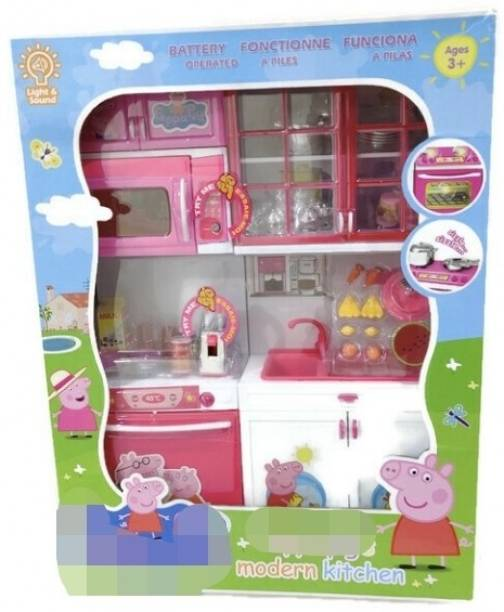 A AND A CREATIONS peppa pig modular kitchen set with premium quality and lighting