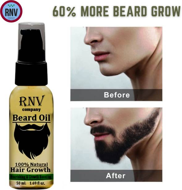 RNV COMPANY Beard Growth Oil for strong and healthy beard growth Hair Oil (50 ml) Hair Oil