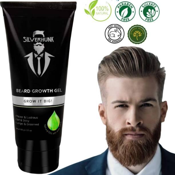 silverhunk Natural Oils With Aloe Vera BEARD GEL For Strong, Shiny And Healthy Beard Growth Beard Gel