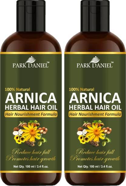 PARK DANIEL Arnica Herbal Hair Growth Oil - For Hair Growth & Strong & Shiny Hair For Men & Women Combo Pack 2 Bottle of 100 ml(200 ml) Hair Oil