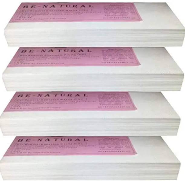 MVILAM Waxing Strips for Hair Removal Plain Disposable White Color Wax Strips Easy & Safe Wax Strips Paper Non-woven Body Hair Removal for Men and Women (144 Strips, Set of 4) Strips