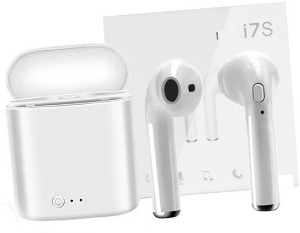 AMUSING i7s Wireless Headphone in-Ear Bluetooth Earphone +Charging Box Bluetooth Headset