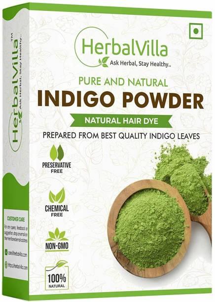 herbalvilla Pure Indigo powder for black hair
