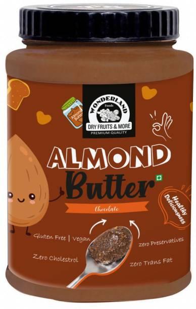 WONDERLAND Chocolate Almond Butter - (250 g) |Glutan Free |Vegan |100% Almonds | Zero Preservatives | Zero Cholestrol | 100% Natural Zero Trans Fat 250 g