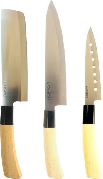 ifrazon YING Premium Quality Ceramic Steel Blade Chef Knife And Kitchen Knife for Cutting Fruits, Vegetable, Meat, Fish & More (Pack of 3) Three different size Knife Ceramic, Steel Knife Set