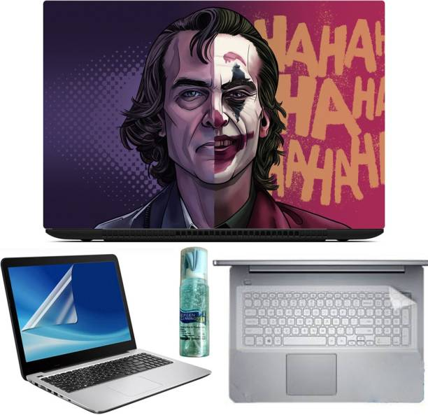 A1 SQUARE EXCLUSIVE 4IN1 SET OF JOKER LAPTOP SKIN SCREEN GUARD KEY PROTECTOR KEY GUARD CLEANER FOR 15.6 INCH LAPTOP Combo Set