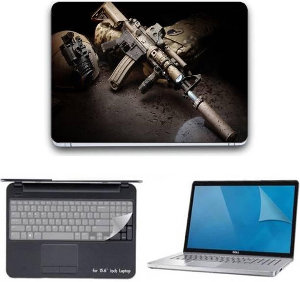 Ganesh Arts Dubai Night Laptop skin Combo Set