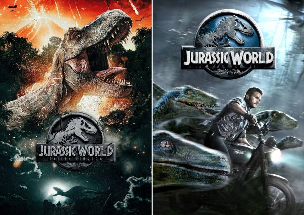 Jurassic World two movie collection (Eng+Hind) dual audio 1080P FHD