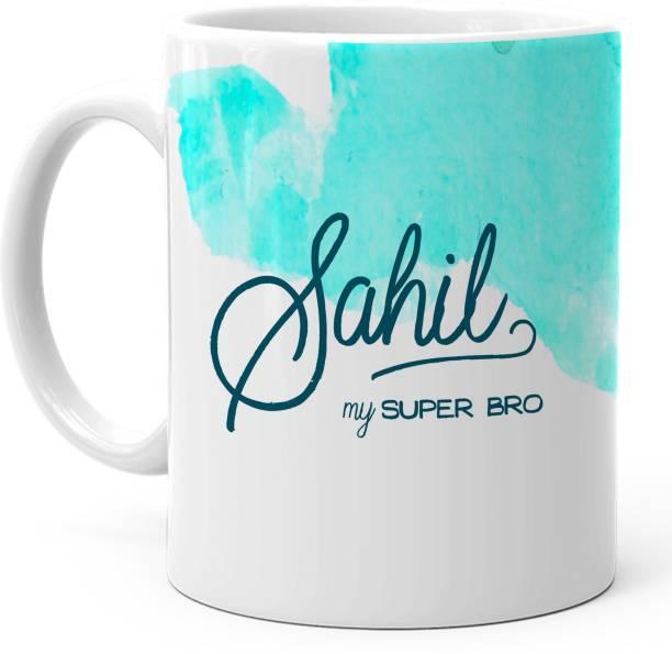 "HOT MUGGS ""Sahil"" - My Super Bro Personalized Ceramic Coffee Mug"