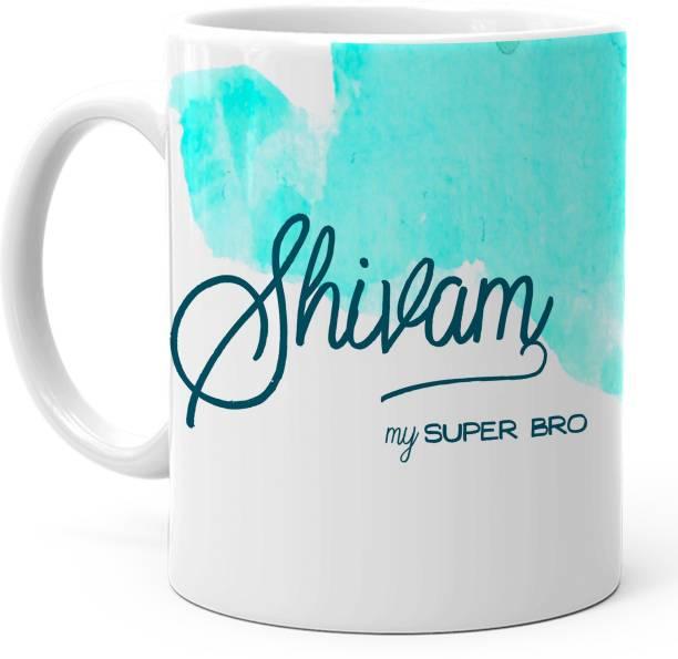 "HOT MUGGS ""Shivam"" - My Super Bro Personalized Ceramic Coffee Mug"