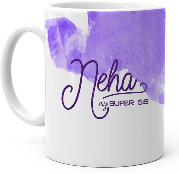 "HOT MUGGS ""Neha"" - My Super Sis Ceramic Coffee Mug"