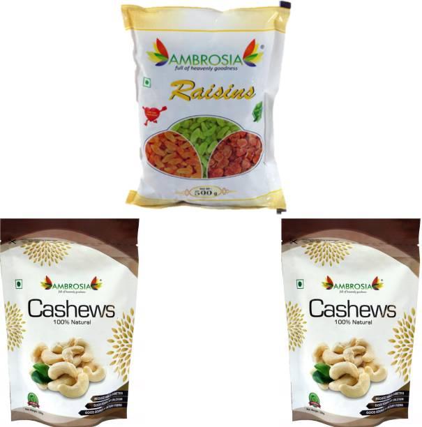 AMBROSIA Raisin & Cashew Combo 1 kg Raisins