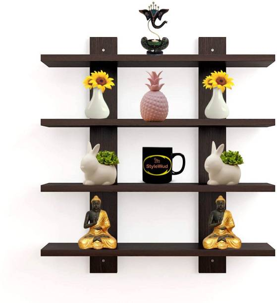 StyleWud H Tree Particle Board Wall Shelf