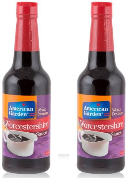 American Garden Worcestershire Sauce Bottle, 295ml each (Pack of 2) Sauce