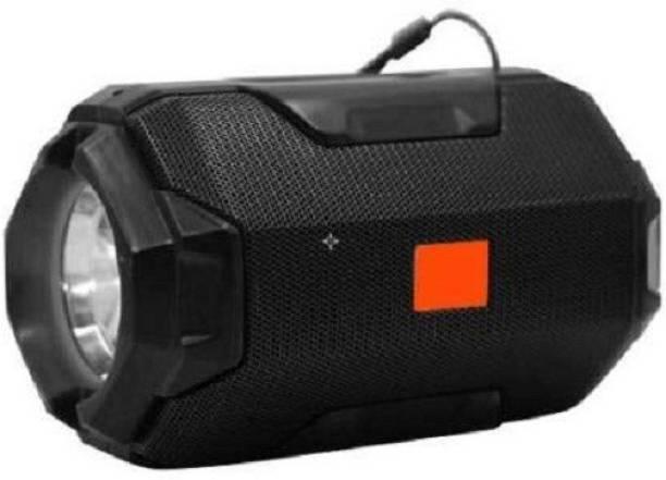 JERK A&O 106-flashlight Speakers/Bluetooth Speaker and Torch/Torch Light Bluetooth Speaker/Torch Speaker/Bluetooth Speaker with Data Cable Bluetooth Speaker (Black , Stereo Channel) 5 W Bluetooth Speaker
