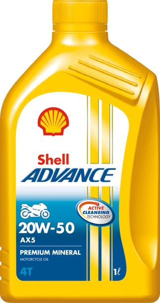 Shell Advance AX5 4T 20W-50 API SL Conventional Engine Oil