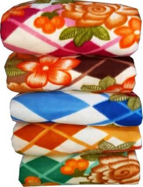 Katariyasons Floral Single Fleece Blanket