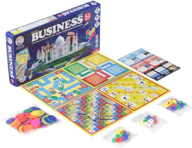 SHREEJIIH Fun Filled Business Game with Plastic Money Coins for Young Businessmen to Learn Trading and Other Systems of Buying and Selling Money & Assets Games Board Game