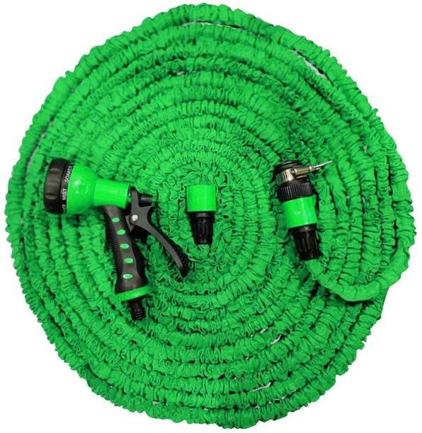 HVG TRADERS Magic Hose Expandable Pipe for car wash Water Spray Gun_1 Magic Hose Pipe for Use Garden Wash Car Bike With Spray Gun High Pressure Washer Hose Pipe Hose Pipe Pressure Washer
