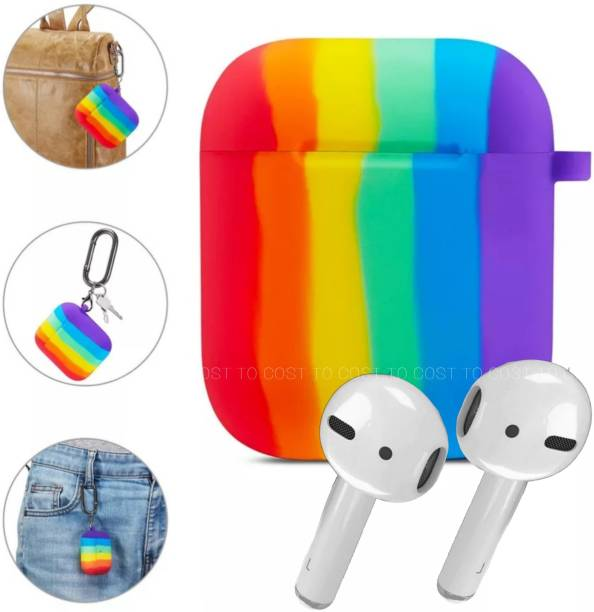 COST TO COST Pouch for Apple AirPods Rainbow Silicon Cover