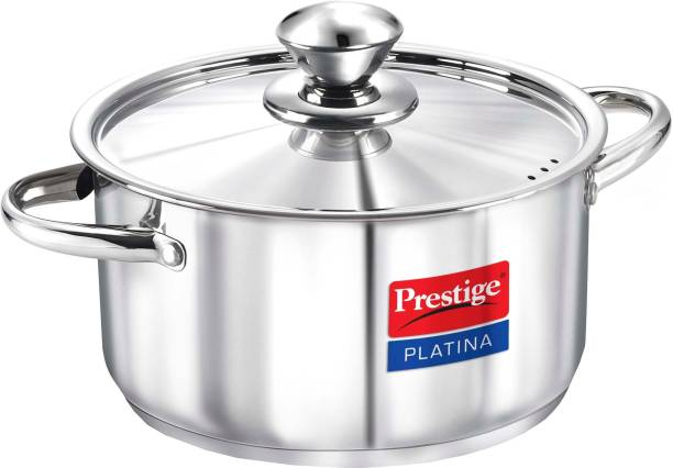 Prestige Platina Stainless Steel Casserole With Lid 200mm Cook and Serve Casserole