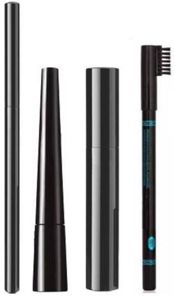 TheTopNotch Liqued EyeLiner + Hypercurl Mascara + Colossal Kajal + Eyebrow Pencil