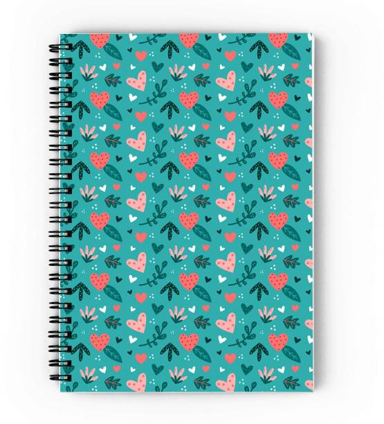 epheriwala Green Heart Pattern A5 Diary Unruled 160 Pages