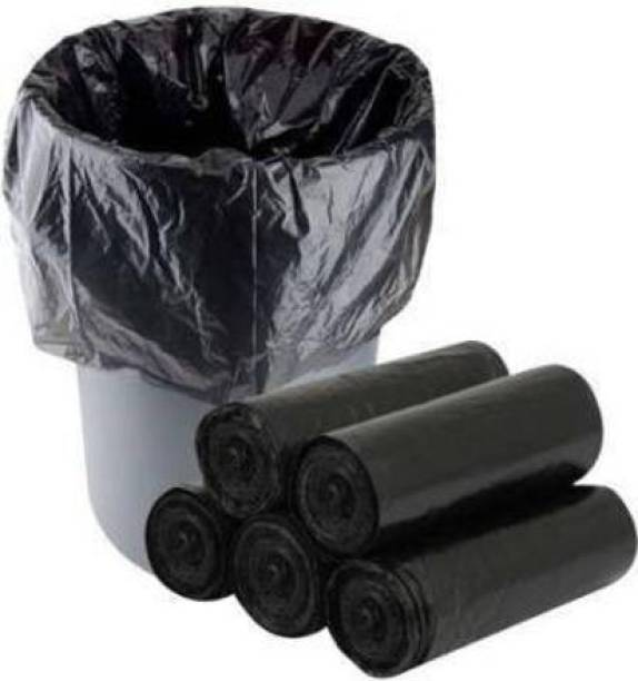 Garbia 150 Garbage Bags,15 litres Capacity,19 Inches X 21 Inches Size,Twist and Tie Mechanism/Pack Of 5 Rolls(1 Roll = 30 Bags)(5 Rolls x 30 Bags =150 Garbage Bags) Medium 15 L Garbage Bag