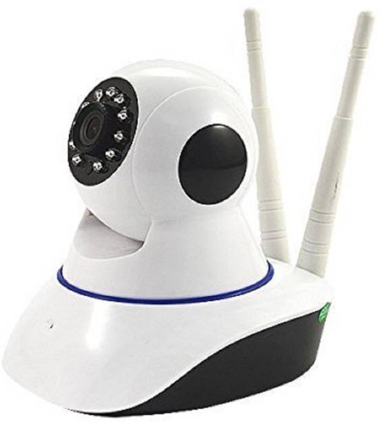 Smarty Camera For Home Office Store | Wireless Dome Pan/Tilt with 2-Way Audio and Motion Detection | 720p HD Wi-Fi Security Surveillance System | Night Vision Support Micro SD Card Slot and LAN Port | Easy Remote Access for Android and iOs Smartphones and Tablets | CCTV Cameras For Indoor Outdoor Use | Wifi Stream Live Video in Mobile or Laptop | 4x Digital Zoom | Two-Way Dual Antenna Monitor With 2 Way Chat-02 Security Camera