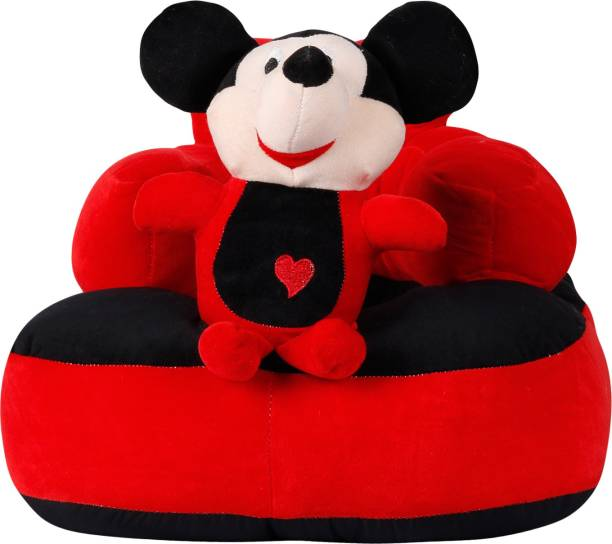 n b home Soft Plush Cartoon Shape Cushion Baby Sofa Seat or Rocking Chair for 0 - 2 years kid(Red)  - 10 cm