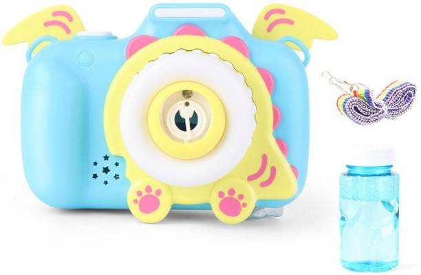 DINAARKAN Cute Dinosaur Animal Shape Automatic Blower Camera Machine Toy Bubble Maker