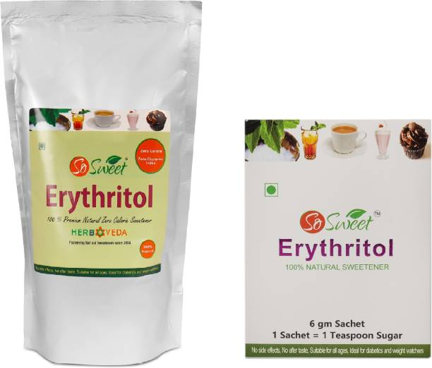 SO SWEET Erythritol 1kg with Erythritol 30 Sachets 100% Natural Sweetener