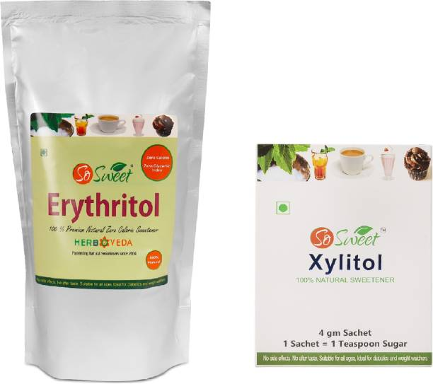 SO SWEET Erythritol 1kg with Xylitol 30 Sachets 100% Natural Sweetener