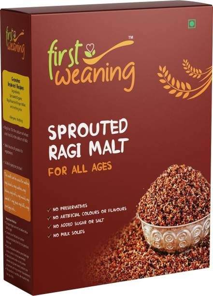 First Weaning Sprouted Ragi Malt for all ages, 200g Cereal