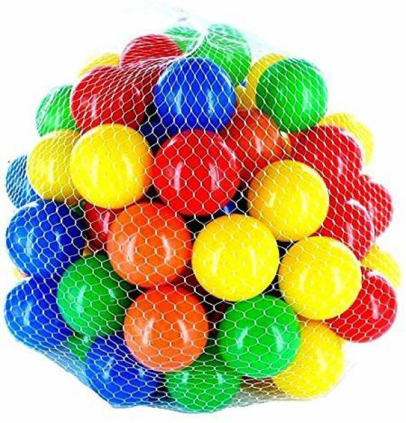 GoodLuck Baybee 48pcs Large Big Size Plastic Kids Pool Ball for Kids 8cm 24pcs Non Toxic Balls for Kids Big Size Bath Toy (Multicolor) Bath Toy