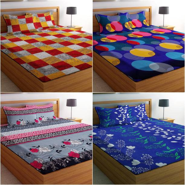 VAS COLLECTIONS 144 TC Cotton Double Printed Bedsheet