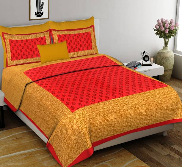 Diva Collection 150 TC Cotton Double Printed Bedsheet