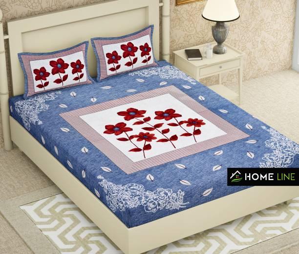 Homeline 150 TC Cotton Double King Floral Bedsheet